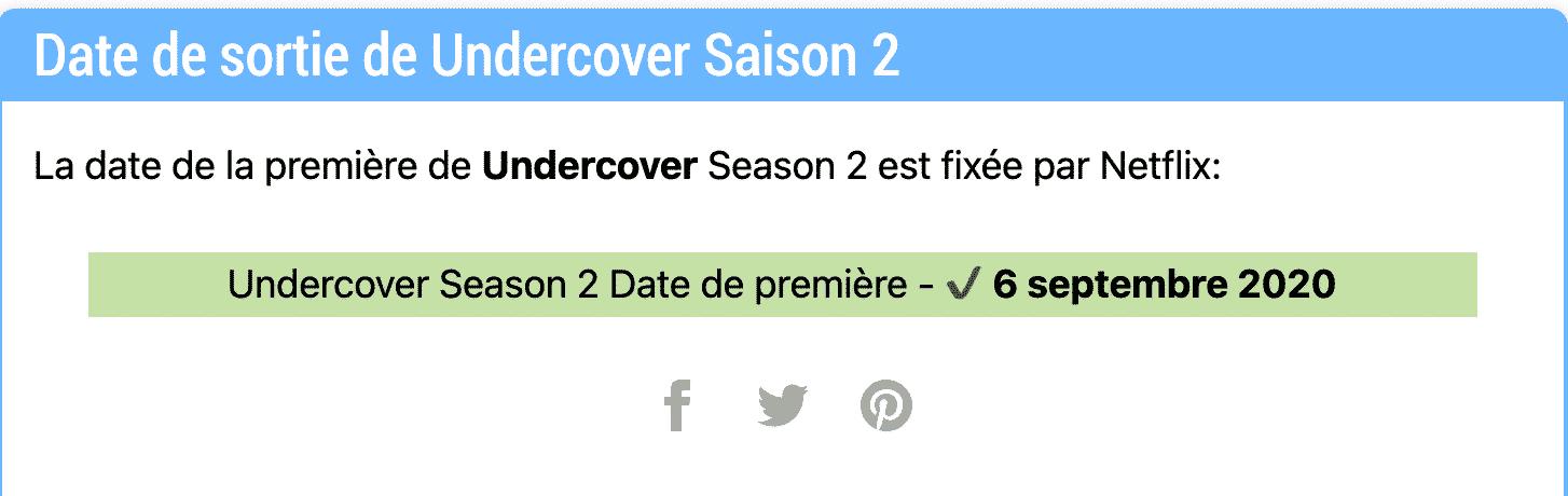 Netflix a-t-il renouvelé la saison 2 d'Undercover ? Statut du renouvellement et nouvelles 2