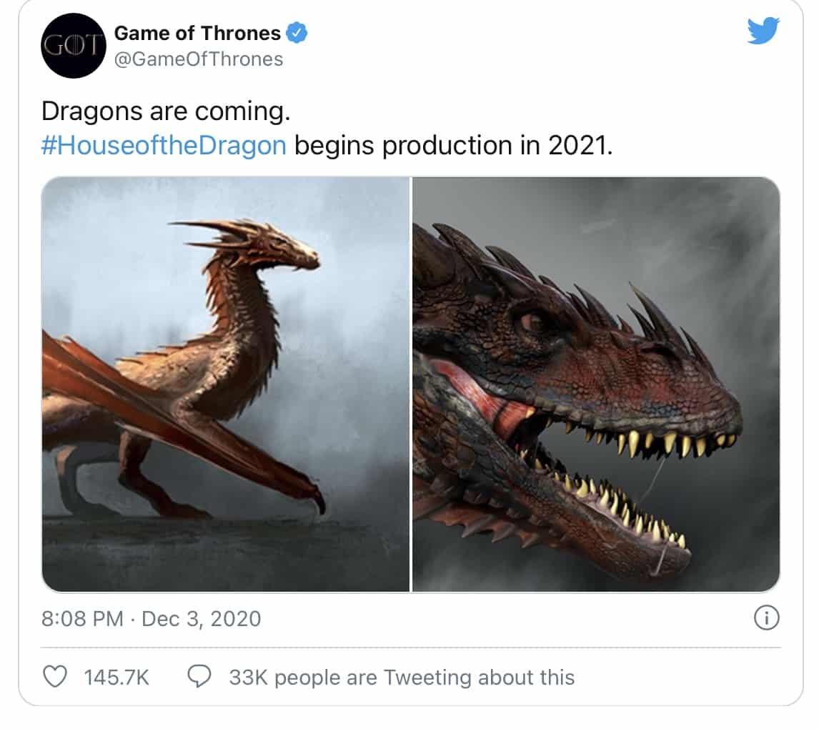 "HBO propose une mise à jour sur l'essaimage de Game Of Thrones ! ""The Dragons are Coming !"" 3"