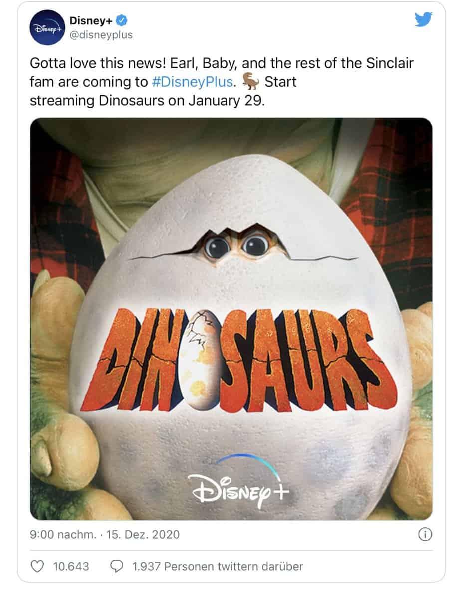 """Disney+ ajoute la série """"The Dinos"""" à sa programmation à partir du 29 janvier 2021 2"""
